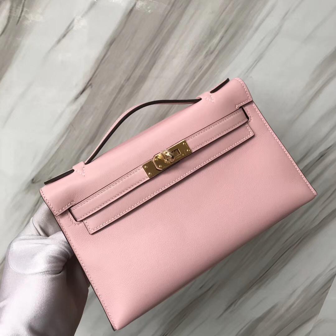Hermes MiniKelly 3Q新櫻花粉 新粉色 Rose Sakura Swift calfskin