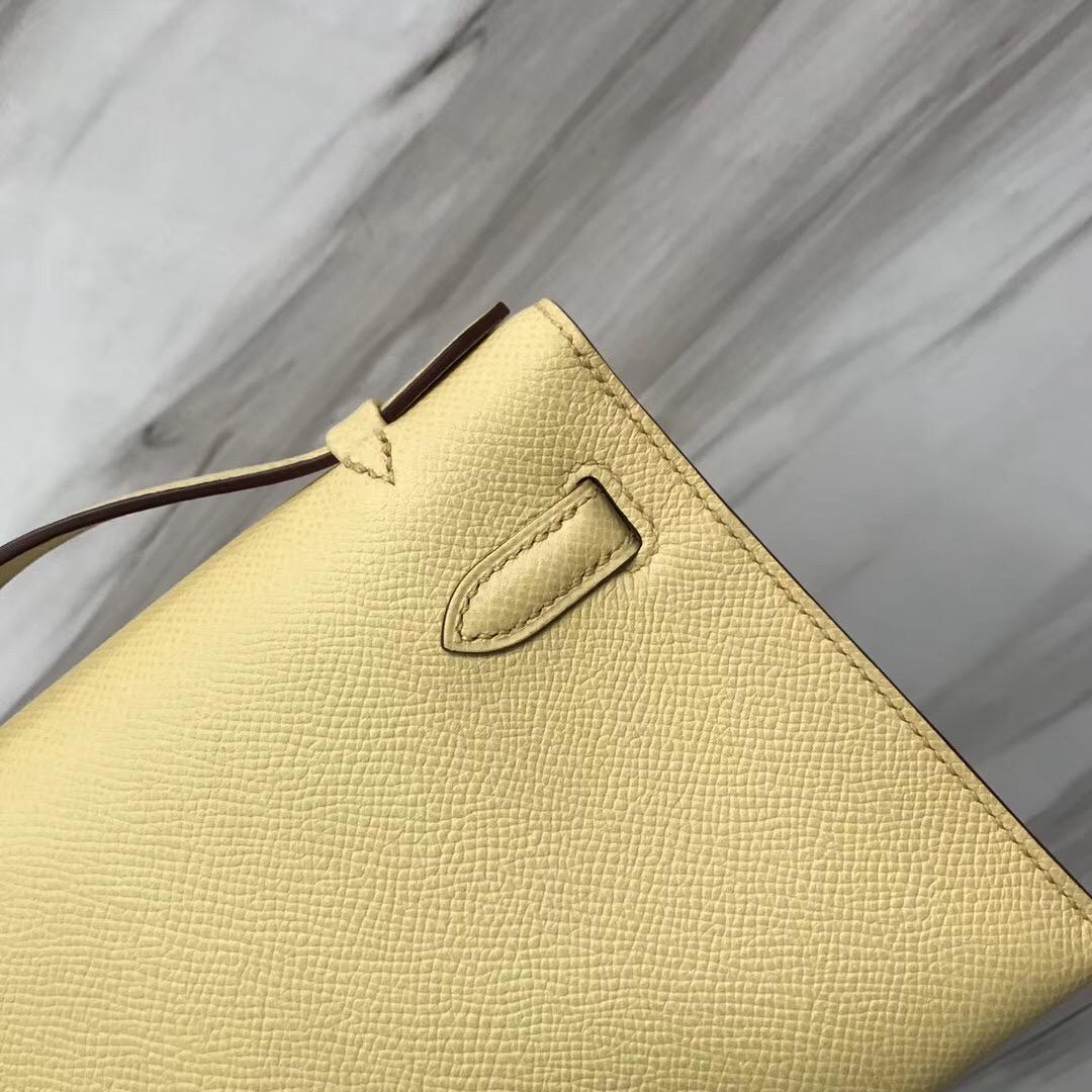 Taiwan Hermes MiniKelly 1Z Jaune Poussin 小雞黃 Epsom手掌紋牛皮