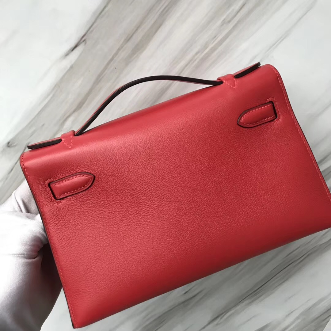 Malaysia Hermes MiniKelly pochette S5 Rouge Tomate 番茄紅 Swift calfskin