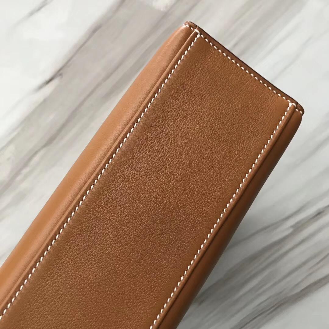 Malaysia Hermes MiniKelly pochette 1H toffee 太妃糖 Swift calfskin