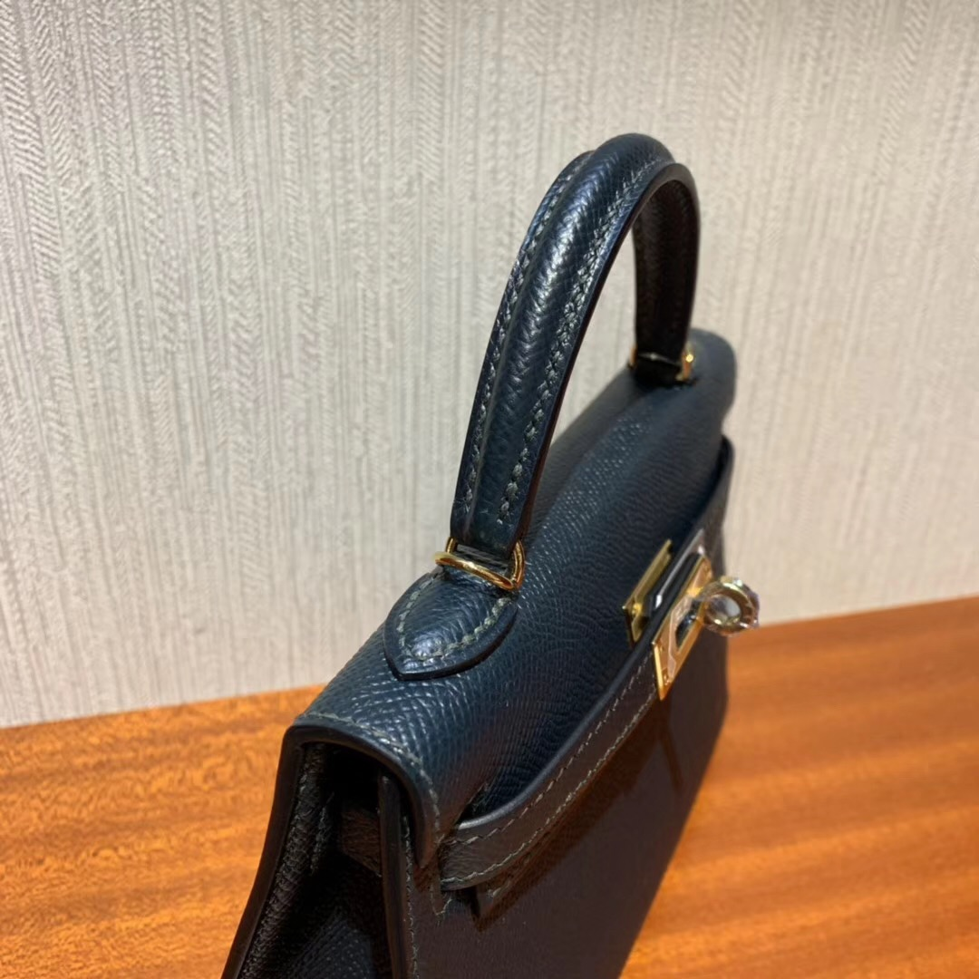 Taiwan Hermes Mini kelly二代 Epsom 6O松柏綠 Vert cypres