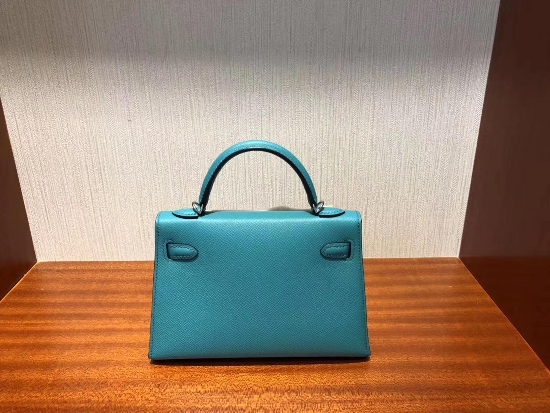 香港愛馬仕迷妳凱莉包2代 Hermes Minikelly U1維羅納綠Vert Veronese Epsom