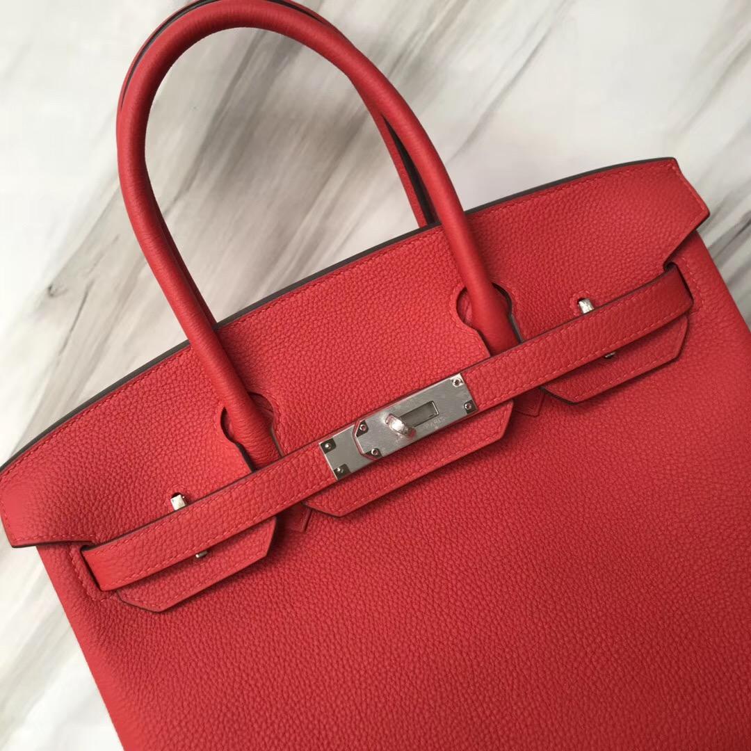 新加坡愛馬仕包包 鉑金包價格 Singapore Hermes A5杜鵑紅 Brikin 30cm