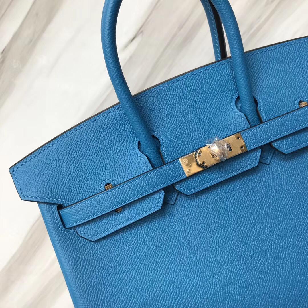新加坡愛馬仕包包 鉑金包 Hermes Brikin 25cm B3坦桑尼亞藍 Blue Zanzibar