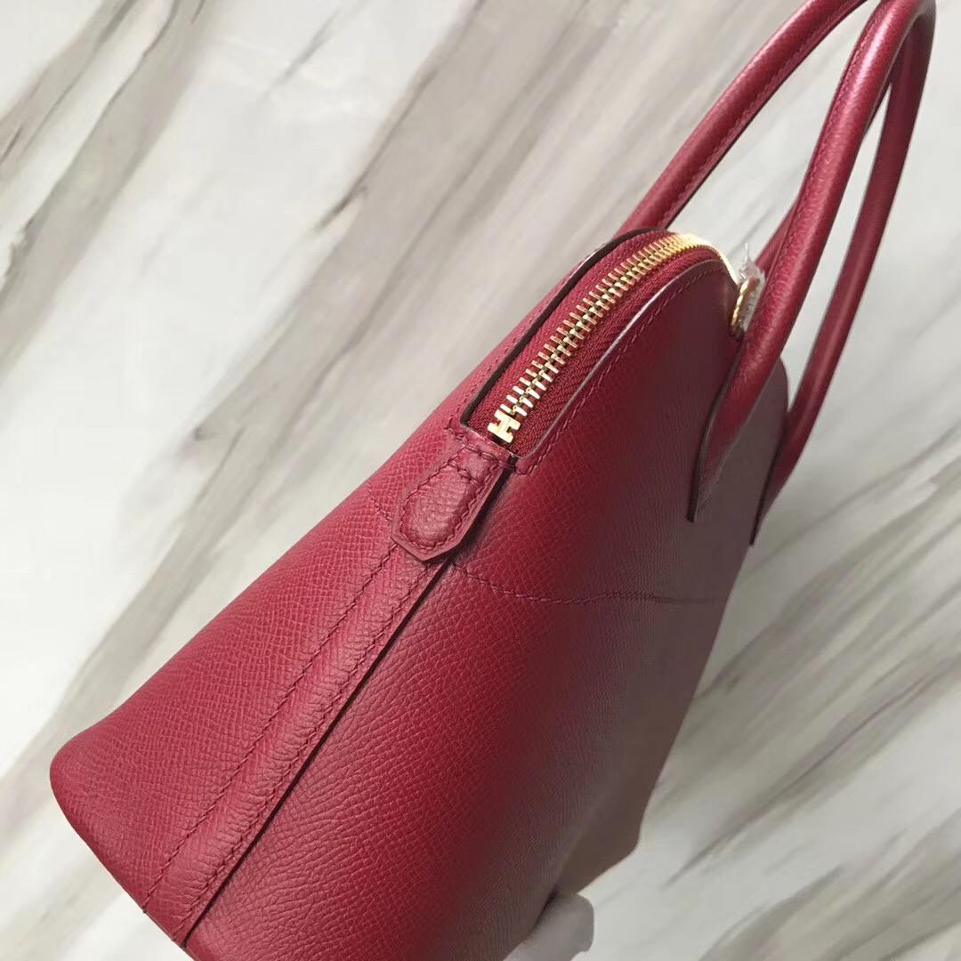 新加坡烏節路愛馬仕旗艦店 Hermes Bolide 27cm k1石榴紅 Rouge grenat