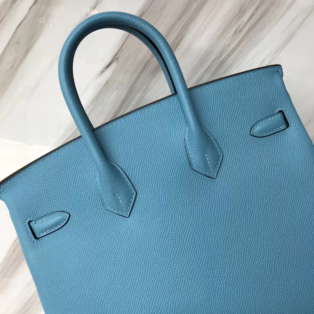 愛馬仕包包香港專賣店 鉑金包價格 Hermes Birkin 25cm P3 北方藍 Blue de nord