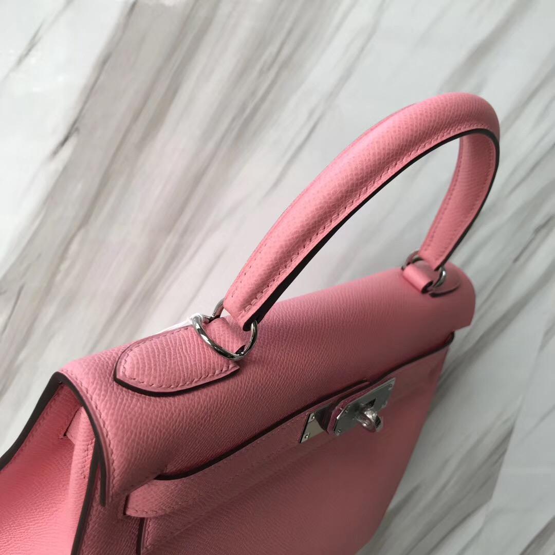 臺灣高雄市愛馬仕凱莉包圖片Taiwan Hermes Kelly 28cm 1Q奶昔粉 Rose Confetti