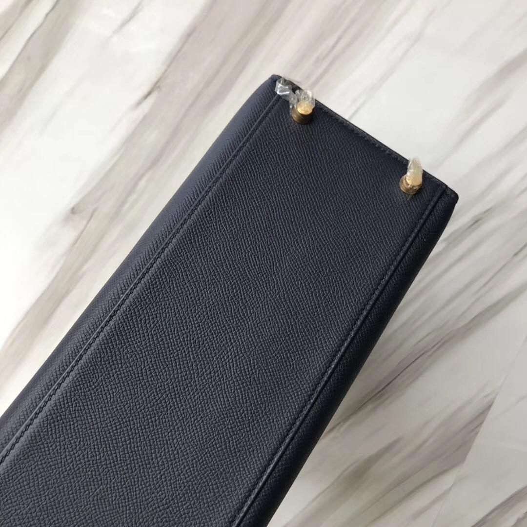 臺灣臺中市愛馬仕凱莉包價格 Hermes Kelly 28cm CK76 深海藍 Blue indigo