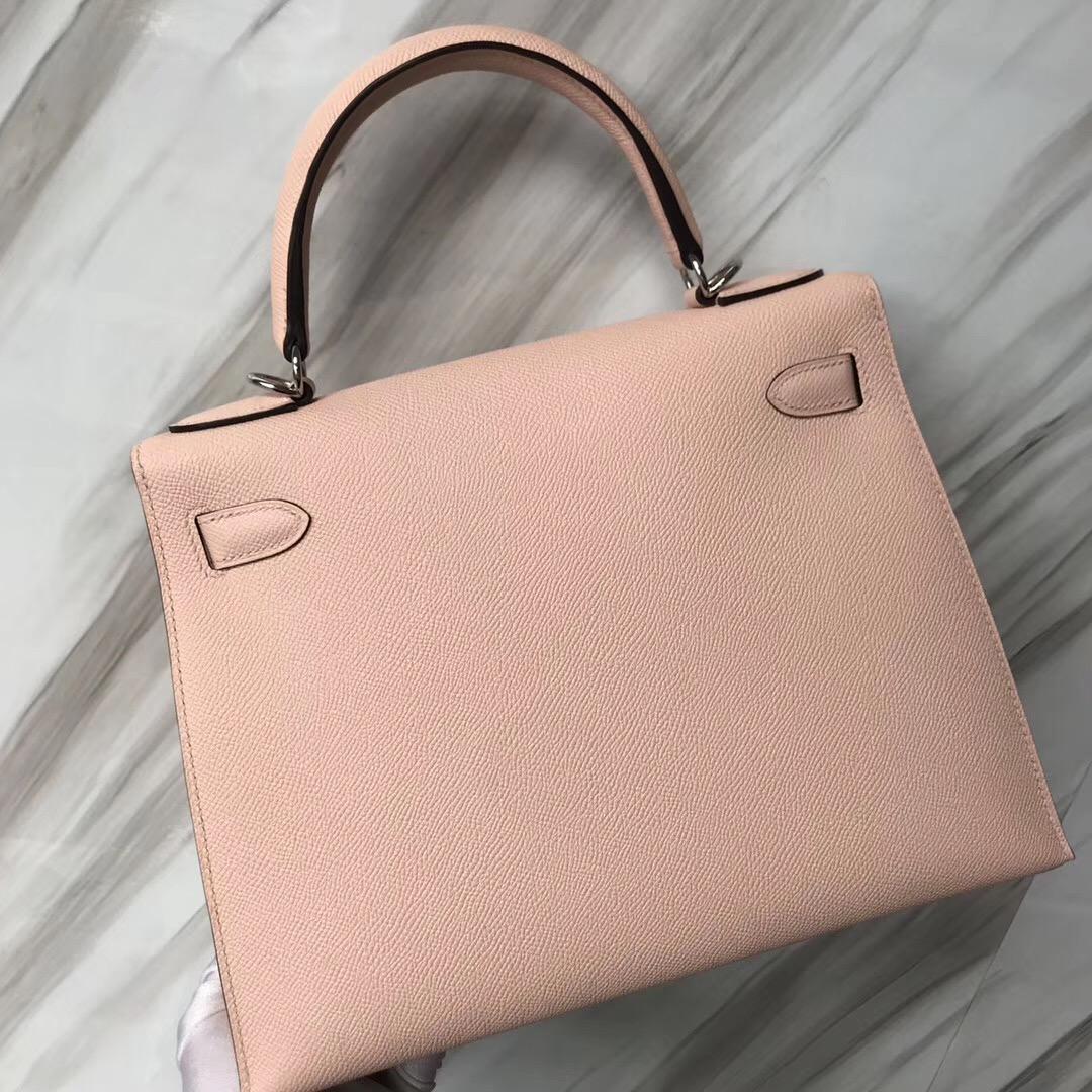 香港愛馬仕凱莉包怎麼才不用配貨 Hermes Kelly 28cm P1 薔薇粉 Rose Eglantine