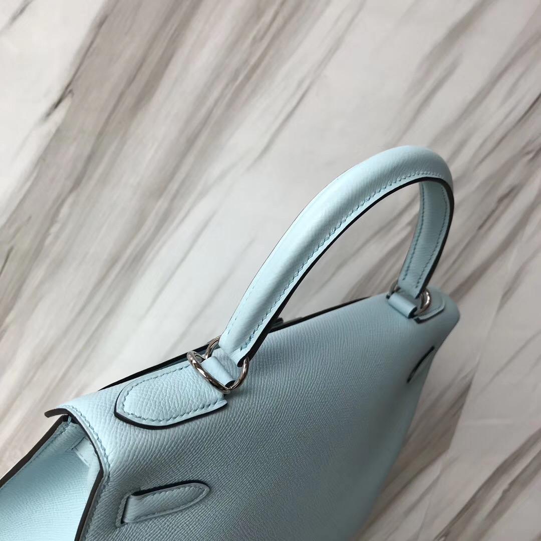 加拿大愛馬仕凱莉包包官網 Hermes Kelly 28cm U2 Bleu Zephyr 微風藍