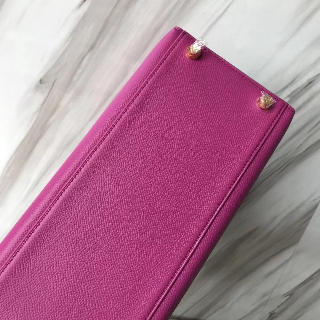愛馬仕包包新加坡網站 Hermes Kelly 28cm Epsom 9I玉蘭粉Rose Magnolia