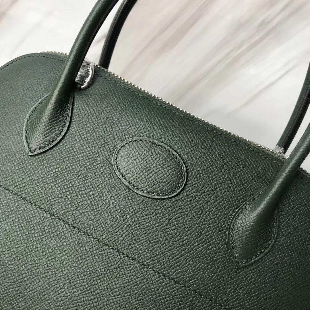 澳大利亞墨爾本維多利亞風情之都 Hermes bolide 27cm 2Q英國綠 Vert Amclais