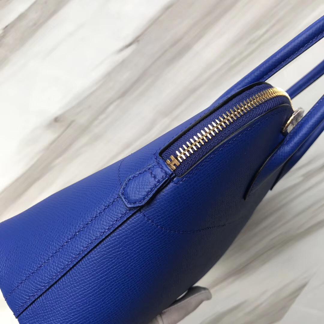 愛馬仕新加坡烏節路總店 寶萊包 Singapore Hermes bolide 27cm I7琉璃藍 Blue zellige