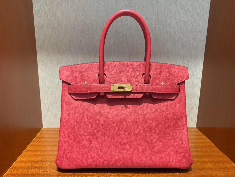 愛馬仕澳門四季名店專賣店 Hermes Birkin 30cm Epsom i6極致粉 Rose Extreme