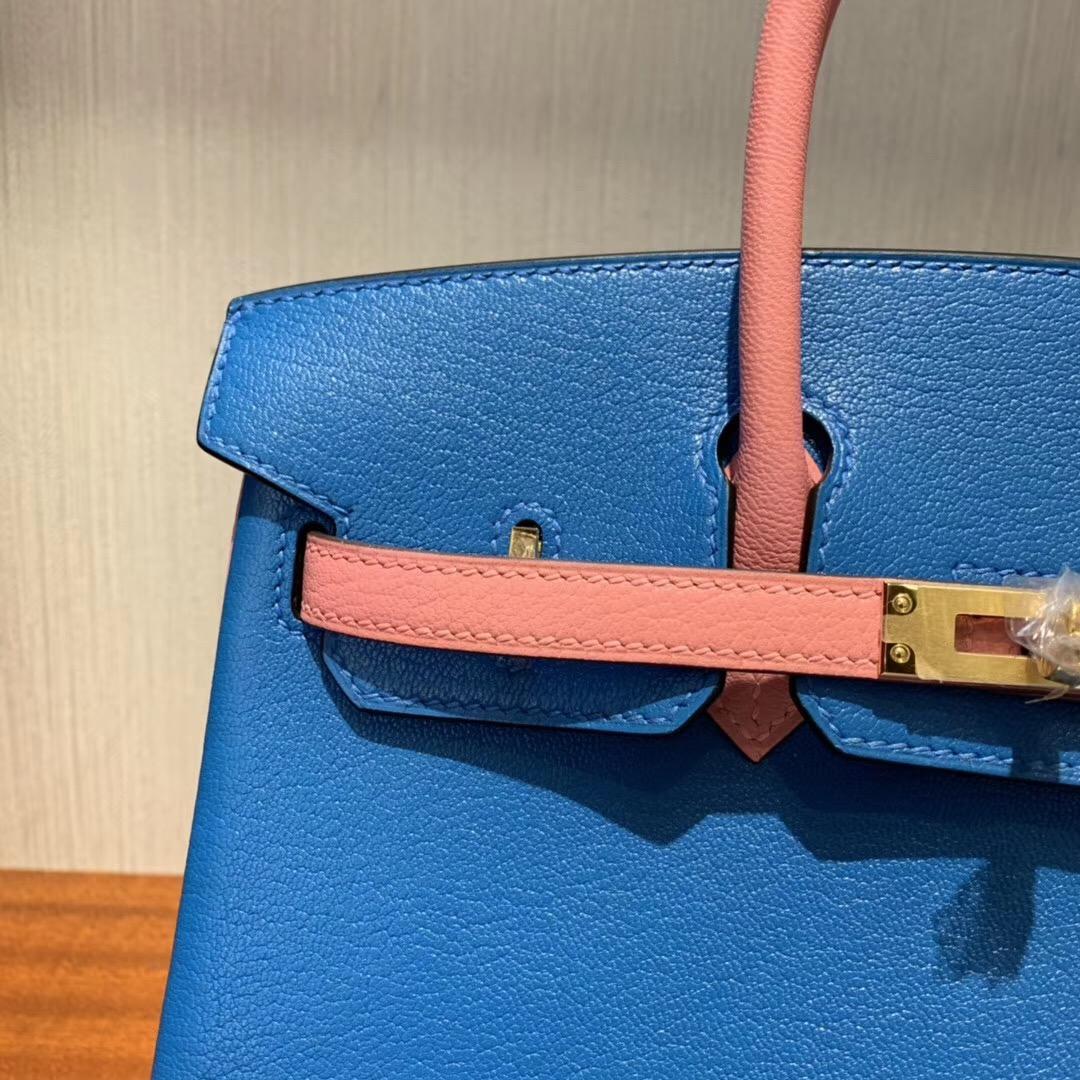 Singapore Hermes Birkin 25cm Hss Chevre 7Q Mykonos 1Q Rose Confetti
