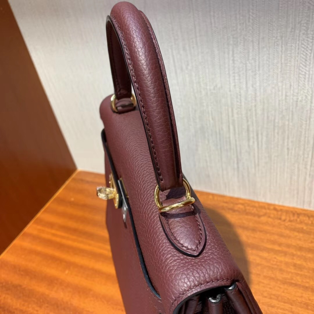 Singapore Hermès Kelly 25cm CK55愛馬仕紅 Rouge H Togo小牛皮