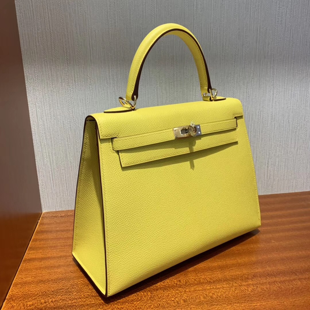 Hermès Singapore Takashimaya Kelly 25cm Epsom 9O那不勒斯黃 Jaune De Naples