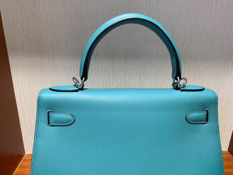 Hermès Singapore Takashimaya Hermes Kelly Bag 25cm 7F孔雀藍 Blue paon