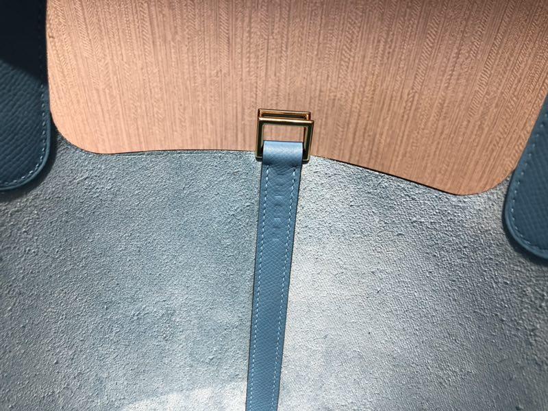 香港愛馬仕官網菜籃子包 Hermes Picotin Lock 18cm P3 北方藍 Blue de Nord