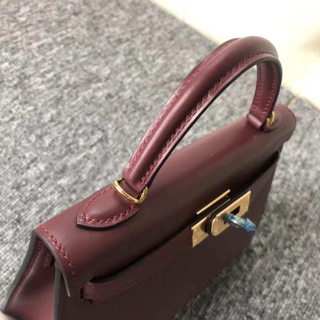 臺灣桃園愛馬仕 Taiwan Hermes Kelly mini二代 Box CK55愛馬仕紅 Rouge H