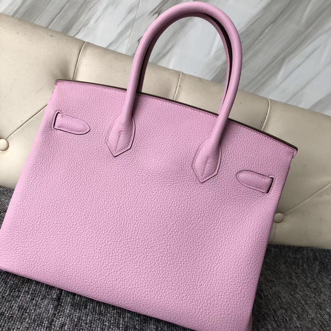 美國愛馬仕鉑金包價格 USA Hermes Birkin 30cm X9錦葵紫 Mauve Sylvestre