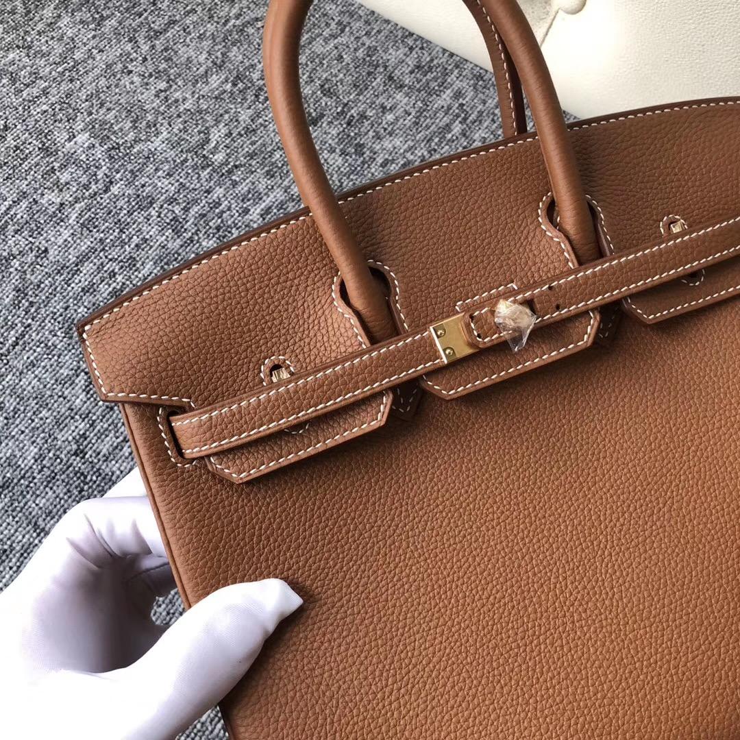 美國紐約愛馬仕鉑金包 USA Hermes Birkin 25cm CK37金棕色 Gold Togo皮