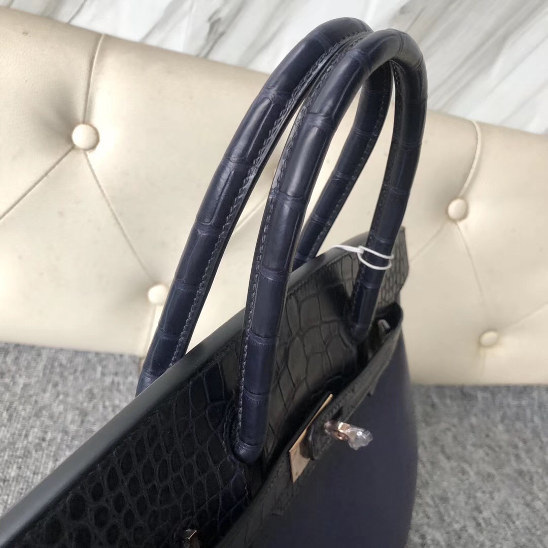 Taiwan Taipei Hermes Birkin 30cm Touch CK73寶石藍 拼7K Bleu Abysse深海藍