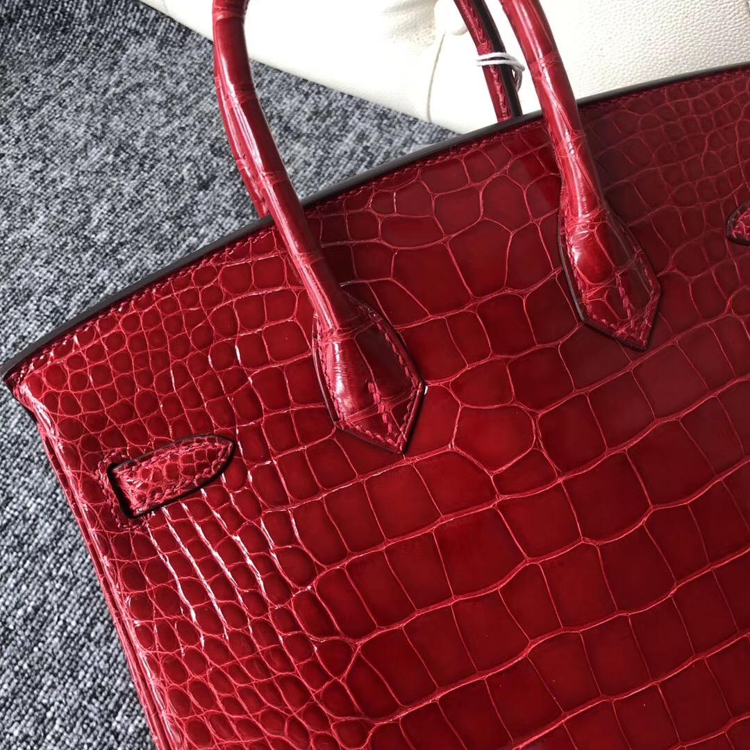 愛馬仕臺北寶麗廣場專賣店 Taiwan Hermes Birkin 25cm 美洲鱷 CK95法拉利紅 Braise