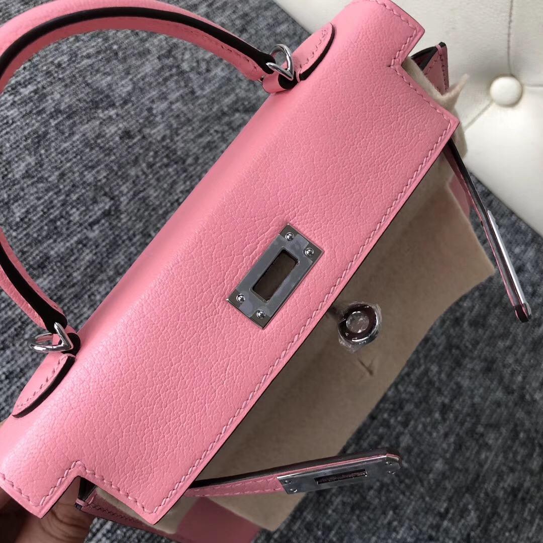 Australia Hermes Kelly Mini 2代 1Q奶昔粉 Rose Confetti Chevre山羊皮