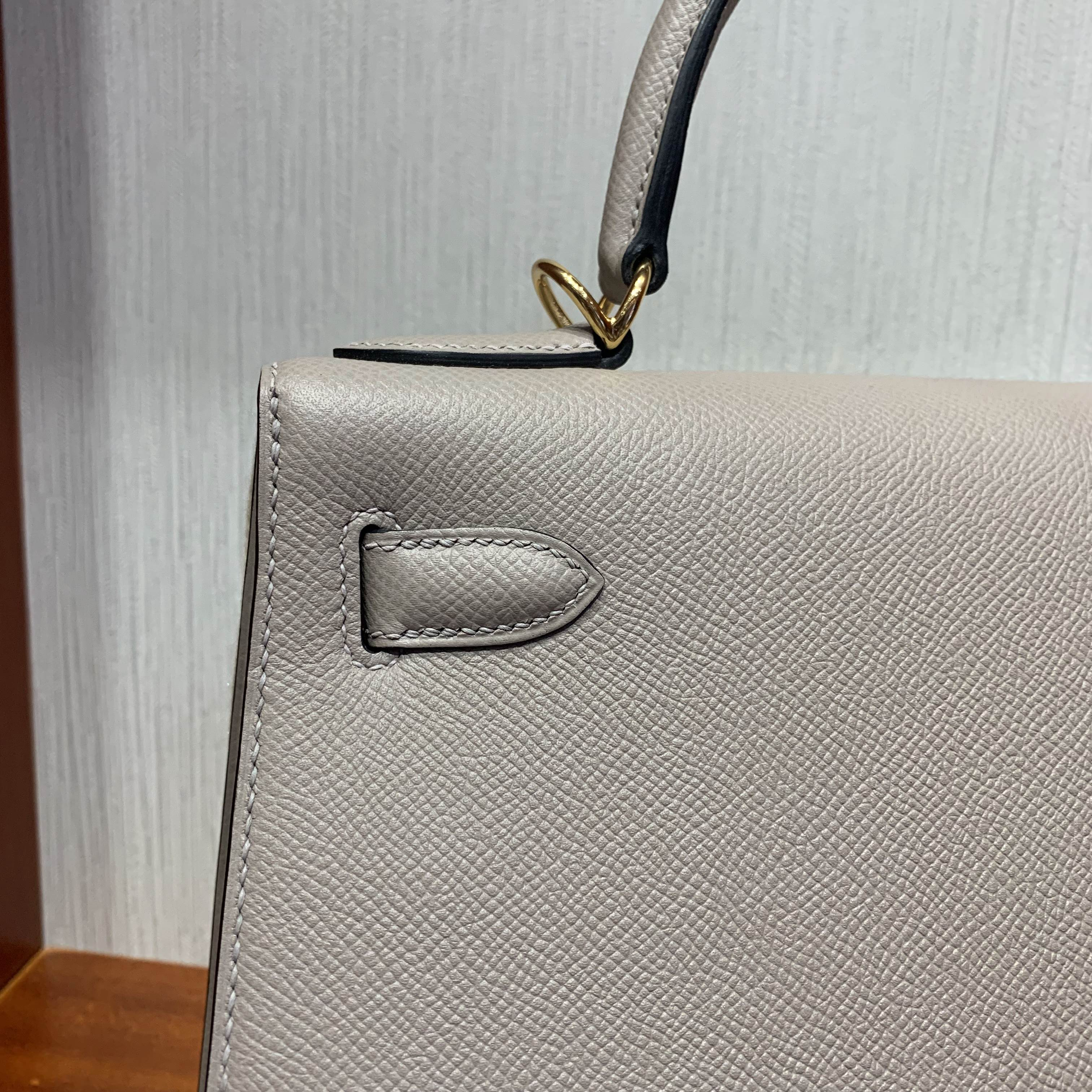 愛馬仕包包價格 Hermes Kelly 28cm bag M8 Griss Asphalte瀝青灰 Epsom
