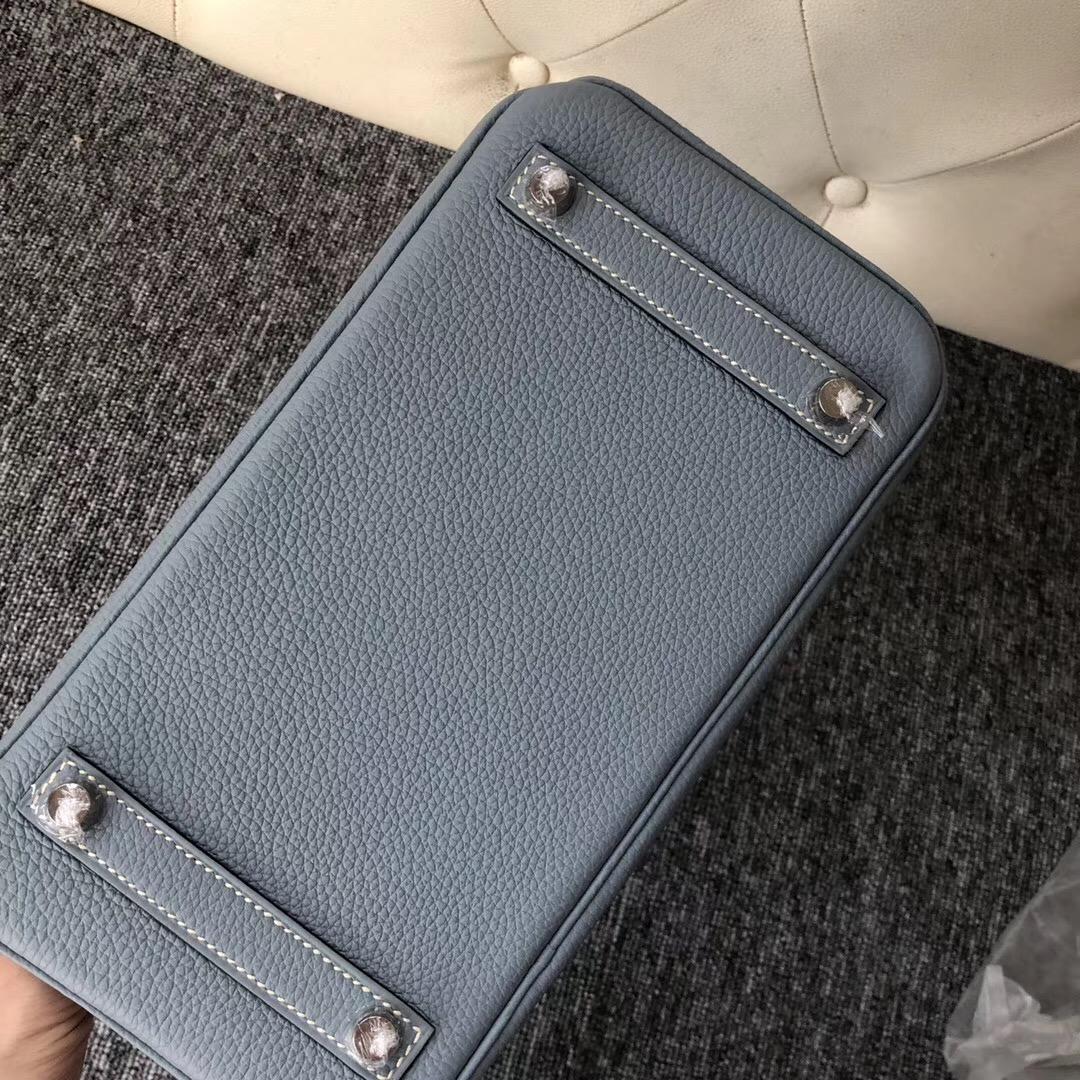 泰國愛馬仕鉑金包 Thailand Hermes Birkin 25cm Togo J7 亞麻藍 blue lin