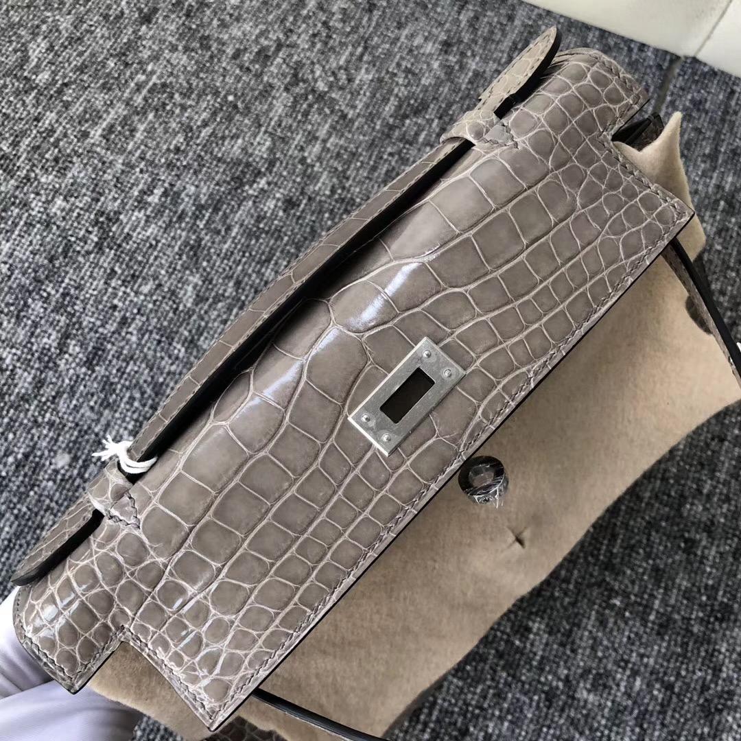 澳洲墨爾本愛馬仕 Hermès MiniKelly pochette CK81斑鳩灰 Gris Tourterelle