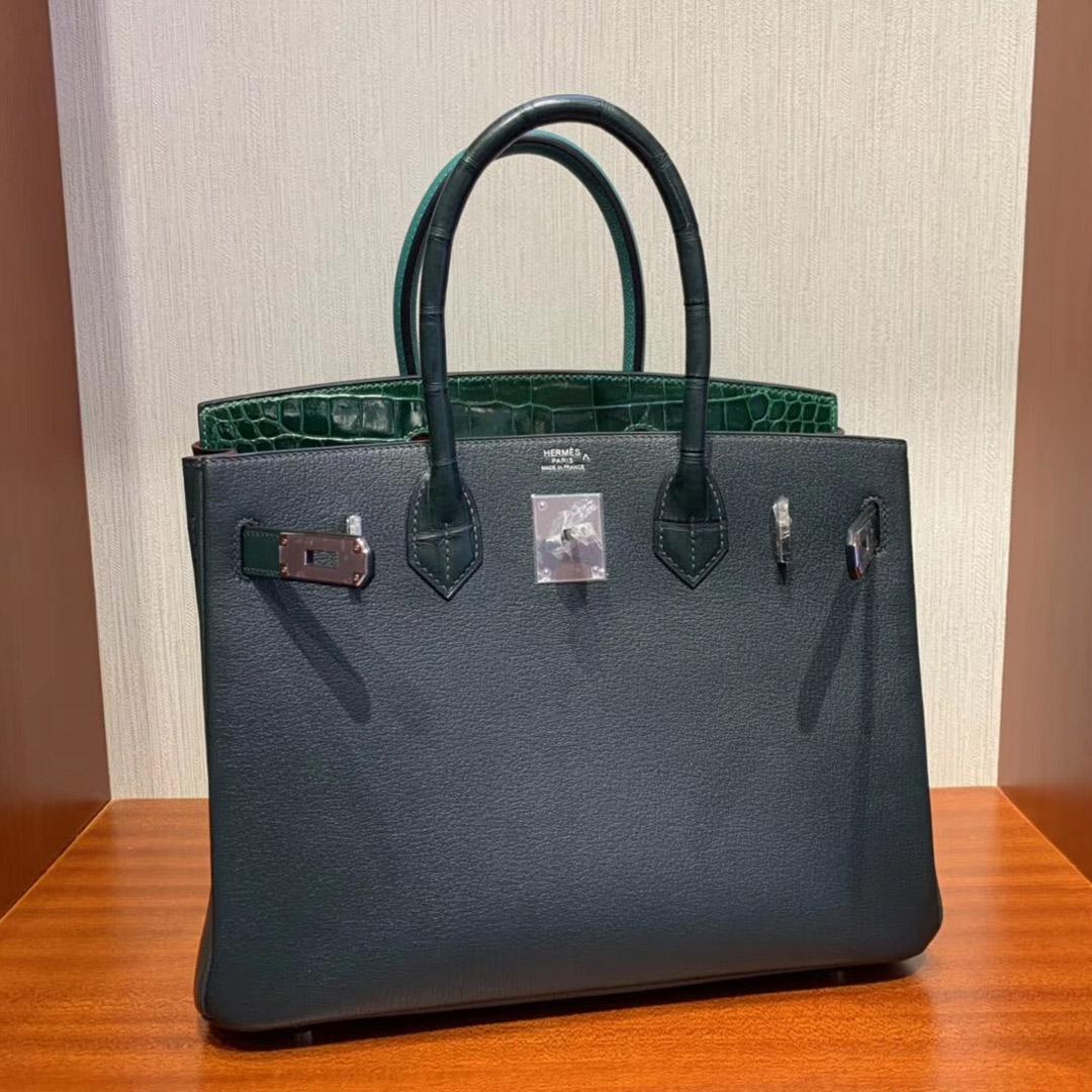 Singapore Hermes Birkin 30cm 6Q翡翠绿 1T泰坦绿 67祖母绿 Z6孔雀绿 8W新唇膏粉