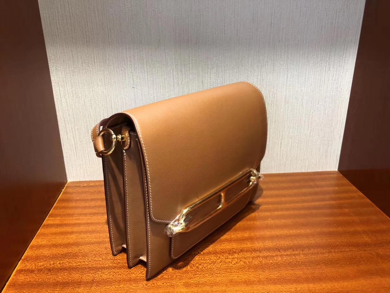 臺灣愛馬仕豬鼻子包 Hermes Roulis 23cm CK37金棕色 Gold Everycolor