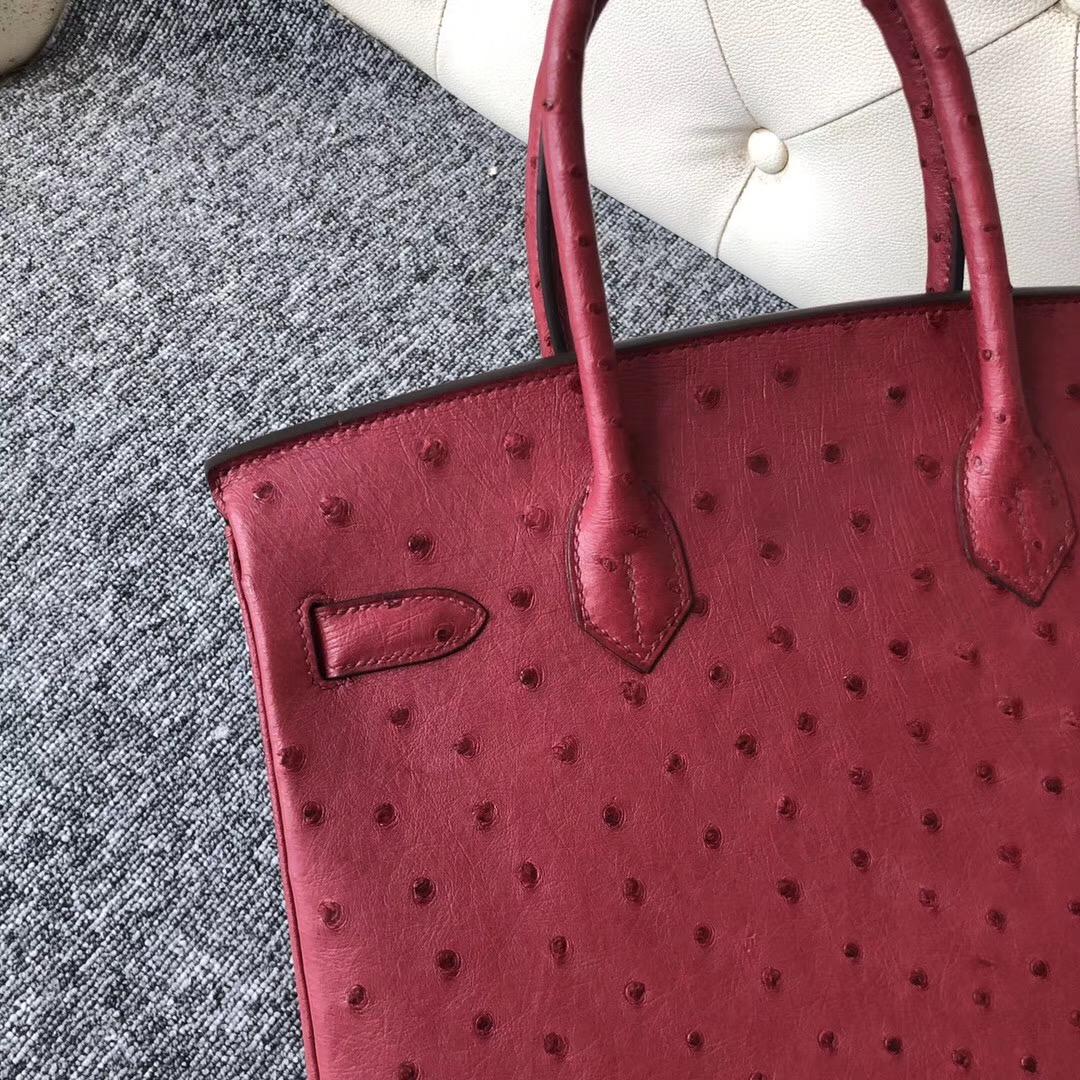 臺灣桃園市鉑金包圖片Taiwan Hermes Birkin 30cm Ostrich K1 Rouge Grenat