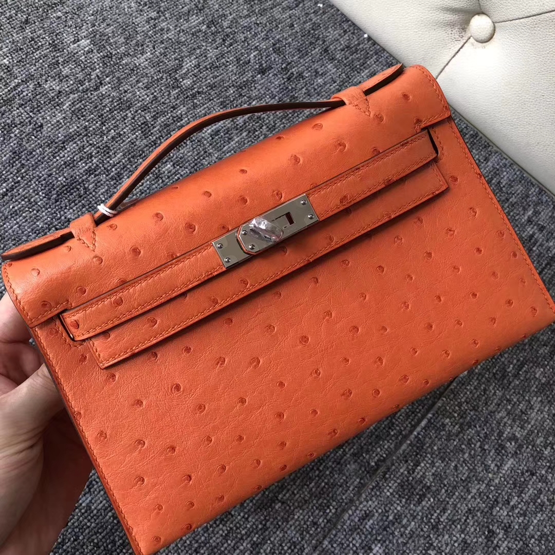 愛馬仕迷妳凱莉包香港價格 Hong Kong Hermes Mini Kelly pochette CK93 Orange