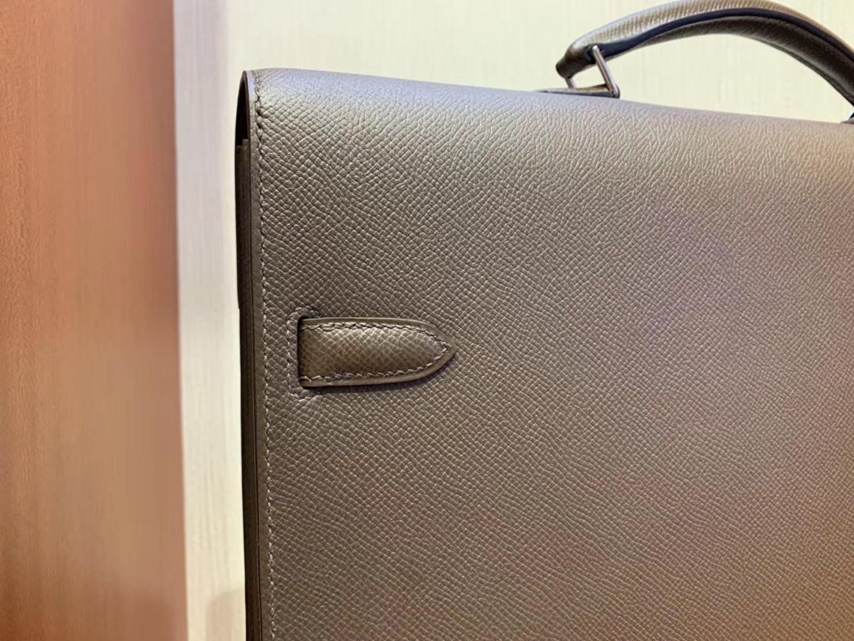 愛馬仕公文包圖片價格 Hermes Kelly Depeches 38cm CK47巧克力色