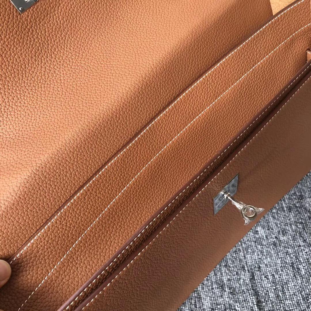 愛馬仕公文包 Hermes Kelly Depeches 公文包 38cm CK37 金棕色 Gold