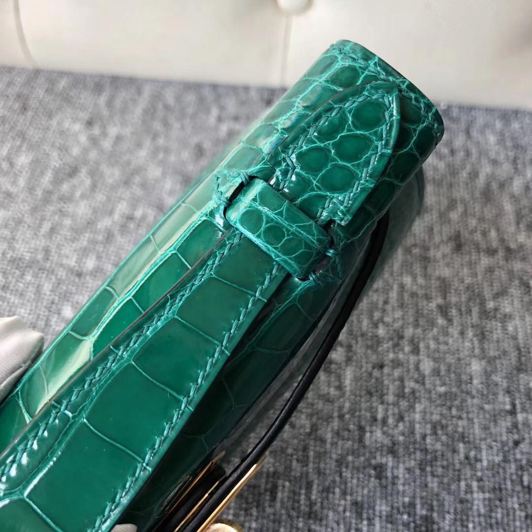 臺灣桃園愛馬仕迷妳凱莉Hermes MiniKelly pochette 6Q 翡翠綠 Vert emeraude