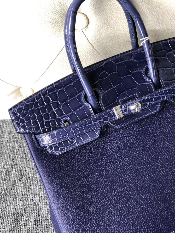 Hermes Birkin 25cm Touch Togo M3墨水藍 Blue Encre/ 亮面美洲鱷