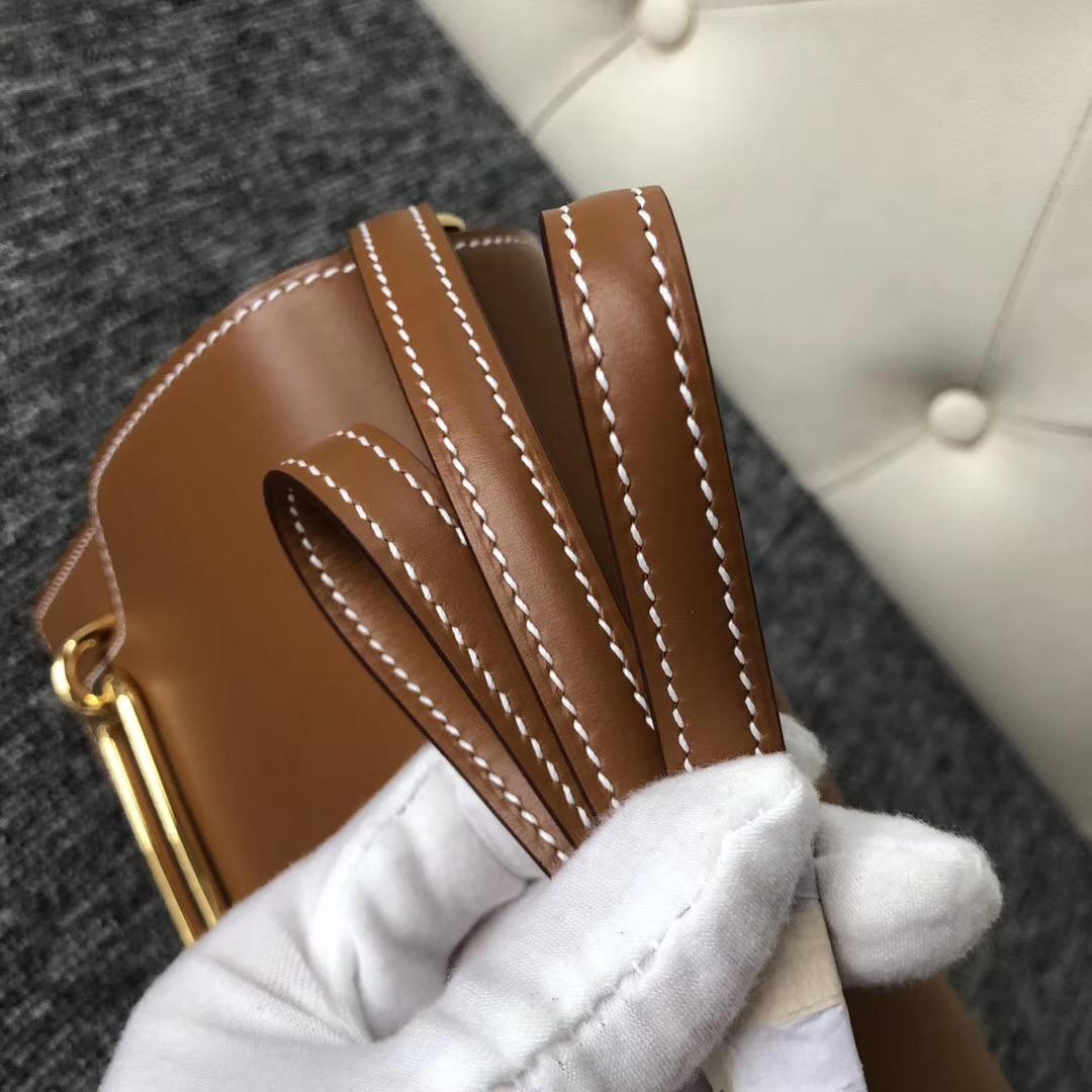 愛馬仕豬鼻子價格及圖片 Taiwan Hermes Roulis 18cm Box C37金棕色 Gold