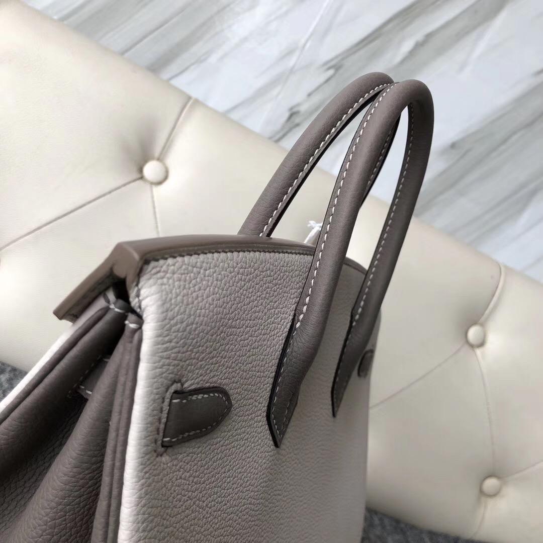 USA Hermes Birkin 25cm Hss CK10 Craie 奶昔白 M8 Gris Asphalte 瀝青灰