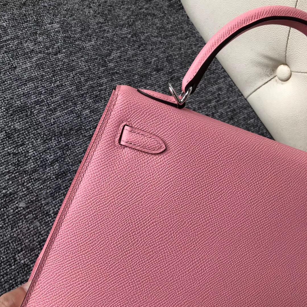 香港九龍城區愛馬仕 Hong Kong Hermes Kelly 25cm 1Q奶昔粉 Rose Confetti