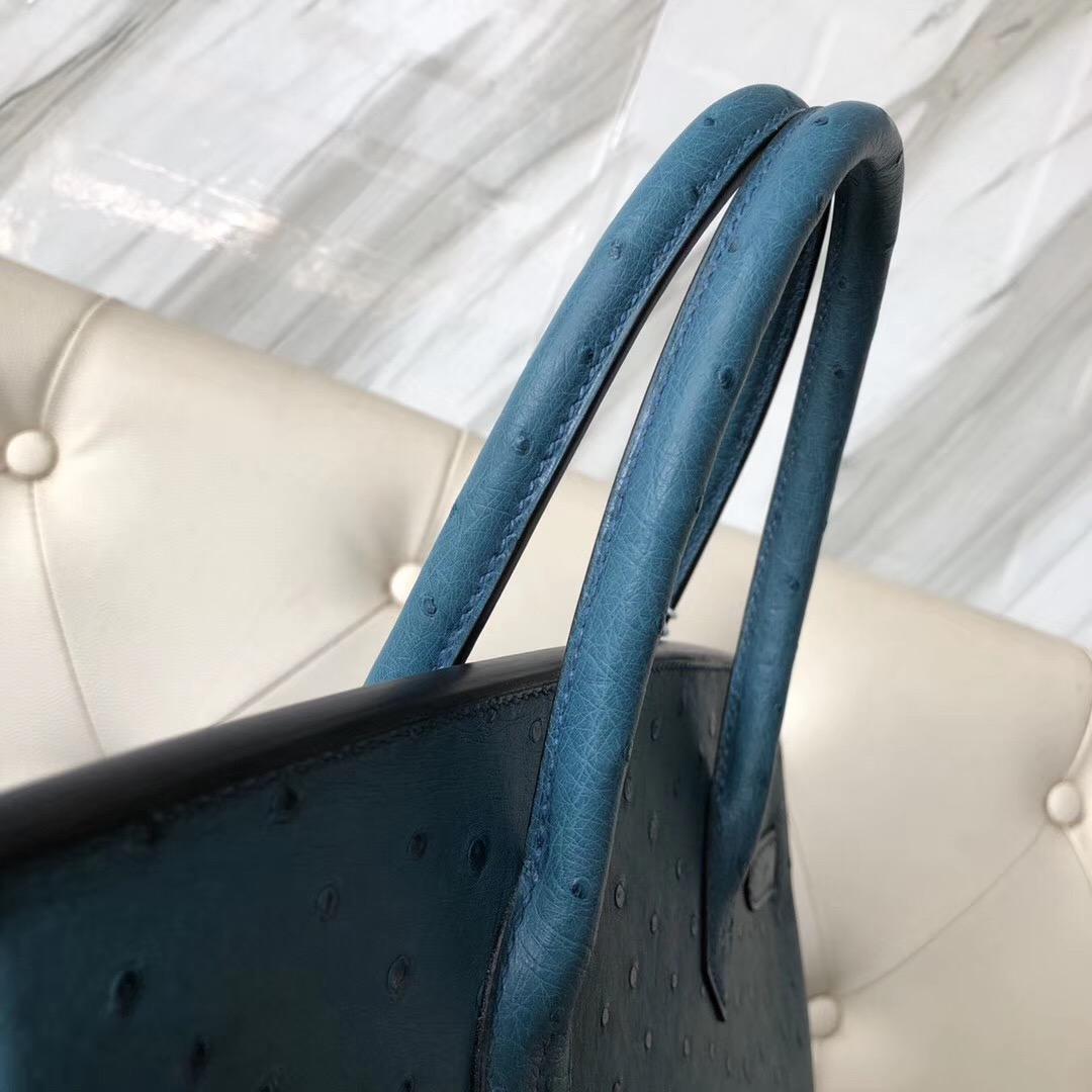 沙田區 荃灣區愛馬仕 Hong Kong Hermes Birkin 30cm 7C珊瑚藍 Ostrich