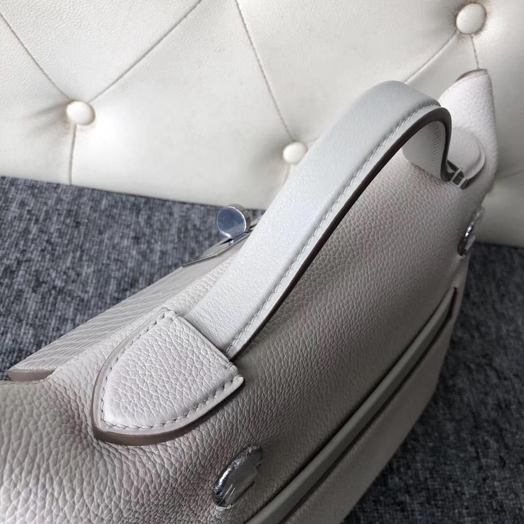 Hong Kong Hermes Kelly 24/24 Maurice 8L奶油白 Beton / CK80 Pearl Grey珍珠灰