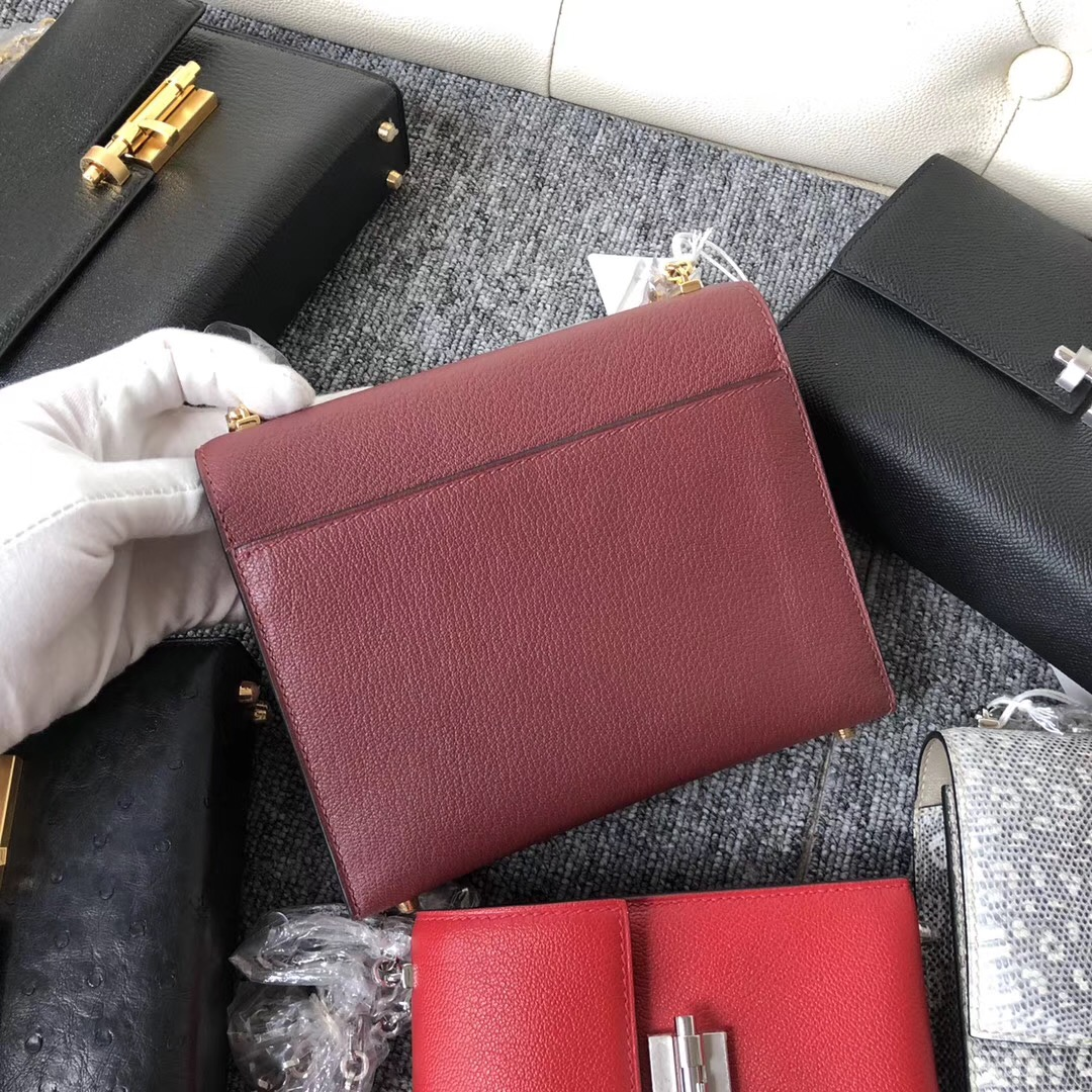 Hong Kong Hermes Verrou 17.5cm Chevre CK55愛馬仕紅 Rouge H