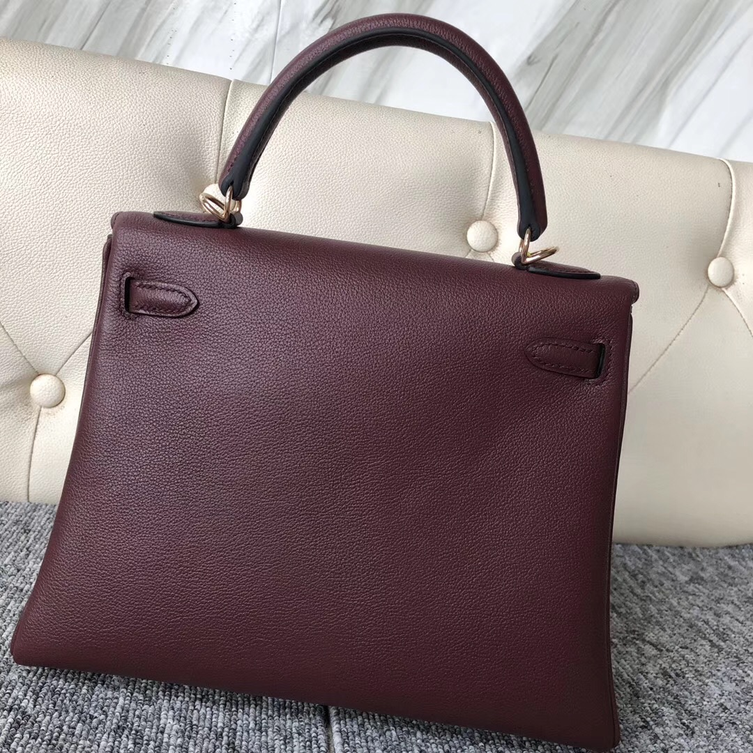 Washington State,USA Hermes Kelly 25 everycolor CK57波爾多酒紅 Bordeaux