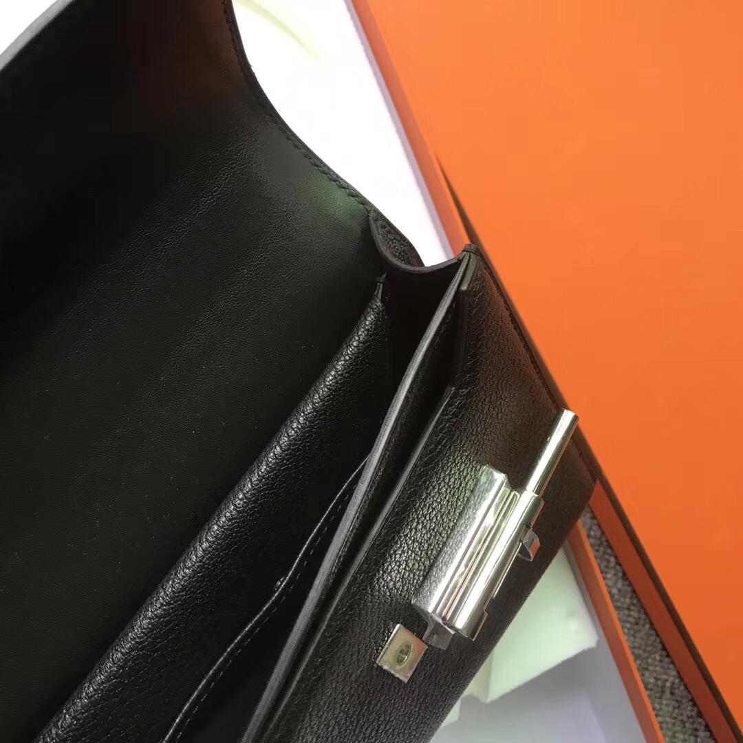 new jersey USA Hermes Verrou 17.5cm Chevre CK89黑色 Noir