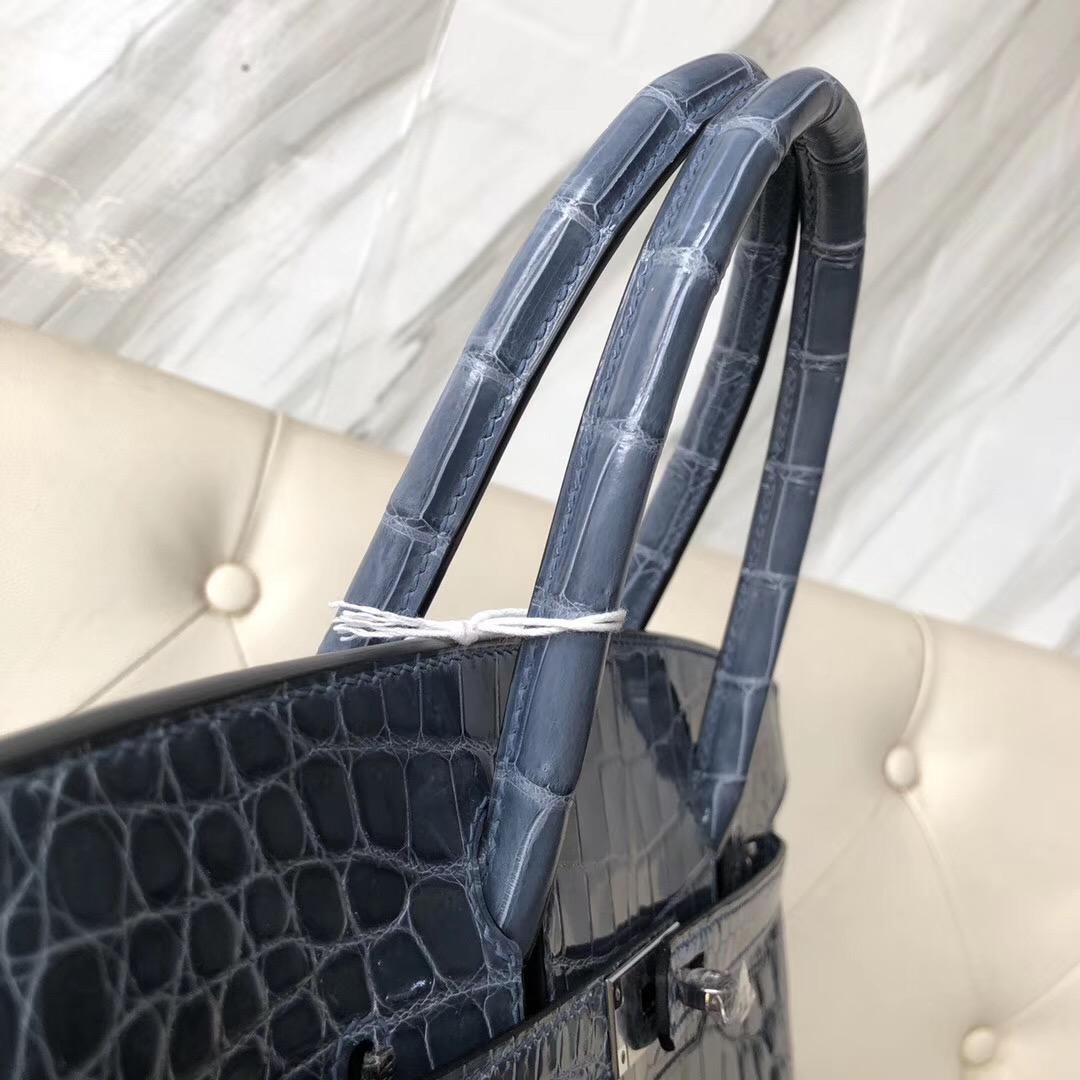 Vancouver Canada Hermes Birkin 30cm CK75牛仔藍 Blue Jean 兩點尼羅鱷