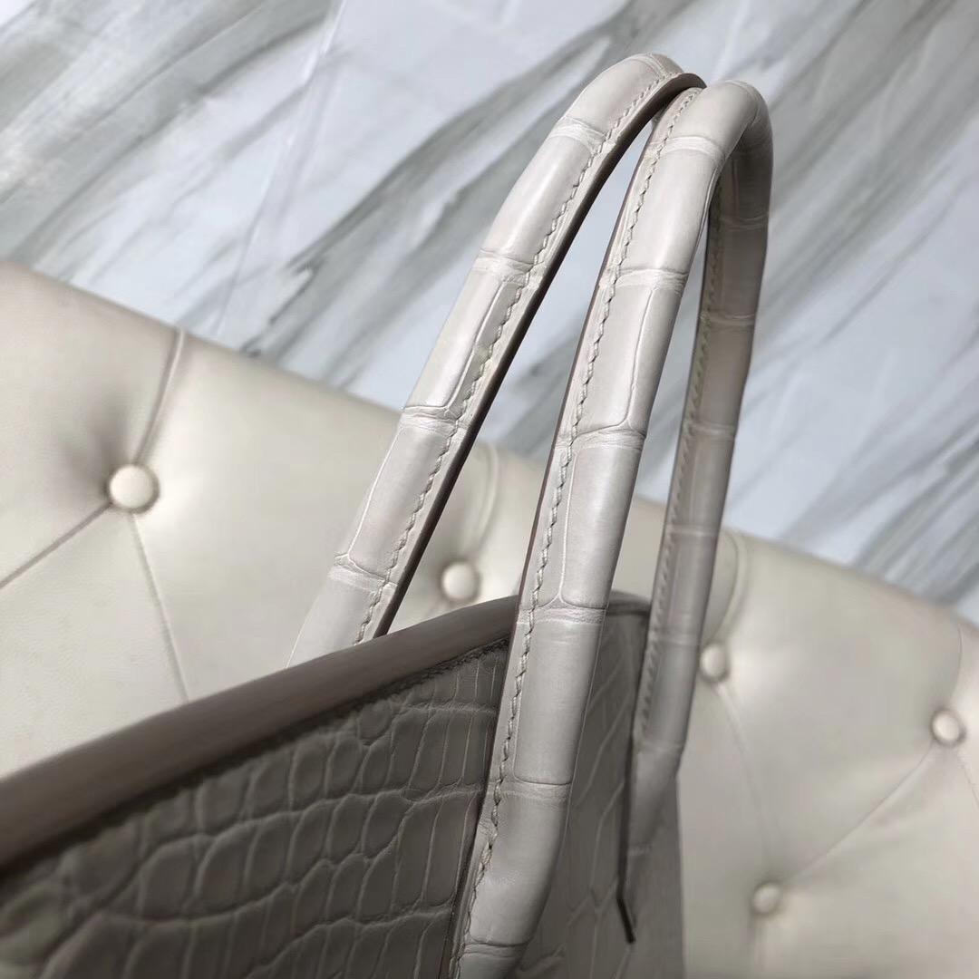 Toronto Canada Hermes Birkin 30cm CK80珍珠灰 Pearl Grey 美洲鱷